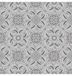 Gray paisley pattern vector