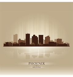 Phoenix arizona skyline city silhouette vector