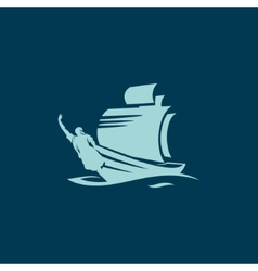 Ship with rostrum sign vector