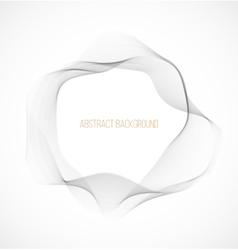 Abstract gray wavy circle background vector