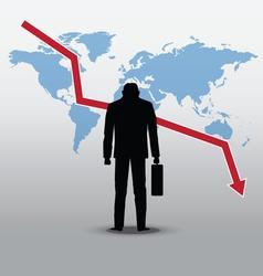 Stock market crash vector