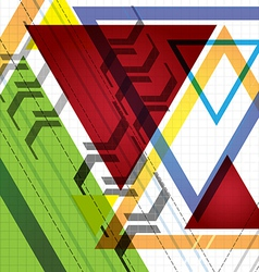 Color delta background vector