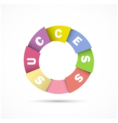 Success overlapping letters vector