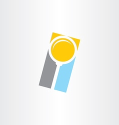 Search magnifier abstract icon vector