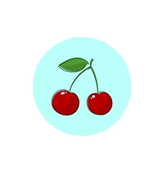 Icon colorful cherry vector