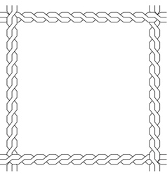 Simple wicker frame monochrome pattern vector
