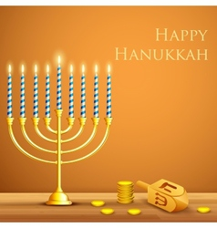 Hanukkah background vector