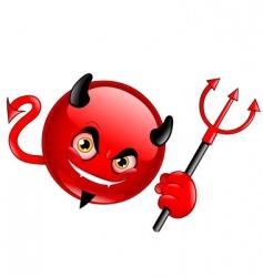 Devil emoticon vector
