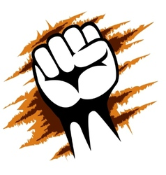 Raised fist poster template graphic design vector