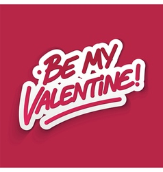 Be my valentine card vector