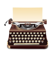 Typewriter realistic vector