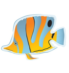 Sticker tropical fish vector