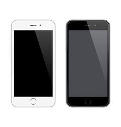 Realistic mobile phone mockup like iphone vector