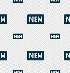 New icon sign seamless pattern with geometric vector