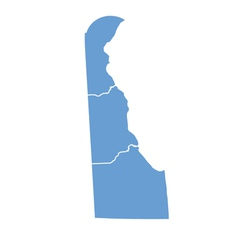 State map of delaware by counties vector