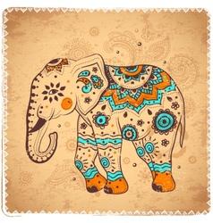 Vintage elephant vector