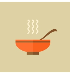Soup food flat icon vector