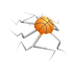 Ball on background with still vector