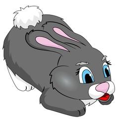 Gray bunny vector