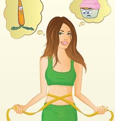 Diet girl vector
