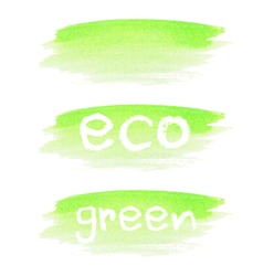 Watercolor stain with text eco vector