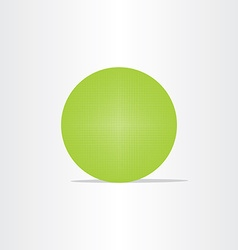 Abstract green net globe circle vector