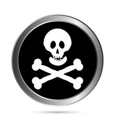 Jolly roger flag button vector