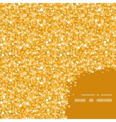 Golden shiny glitter texture frame corner pattern vector