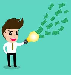 Business man idea money2 vector
