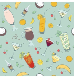 Cocktail drinks hand drawing vector