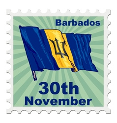 National day of barbados vector