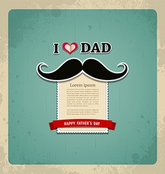Happy fathers day vintage greeting card vector