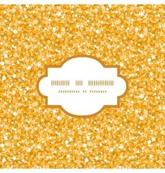 Golden shiny glitter texture frame seamless vector