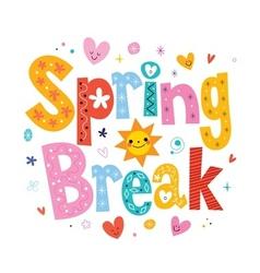Spring break vector