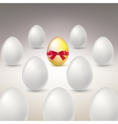 Golden egg difference uniqueness concept image vector