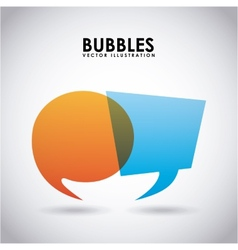 Bubbles design vector