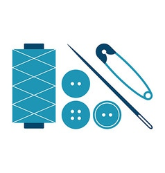Sewing equipment and needlework set vector