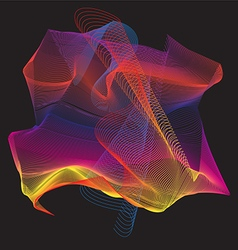 Colorful curve abstract vector
