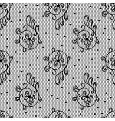 Lace filigree pattern vector