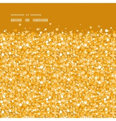 Golden shiny glitter texture horizontal frame vector