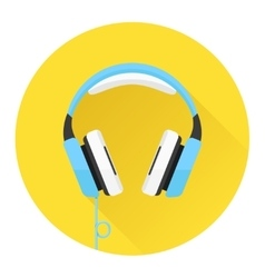 Headphones flat icon vector