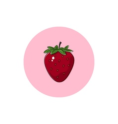 Icon colorful strawberry vector