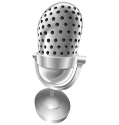 Retro steel microphone vector