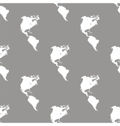 Continental americas seamless pattern vector
