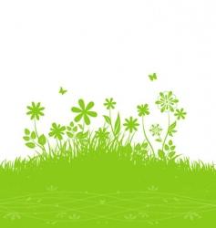 Summer background grass vector