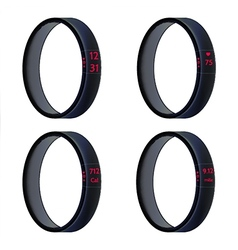 Black smart wristbands vector
