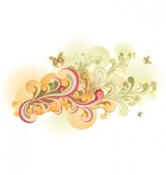 Retro swirl vector
