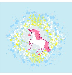 Beautiful pink unicorn vector