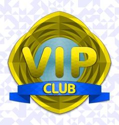 Vip club emblem vector