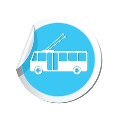 Trolleybus icon round blue copy vector